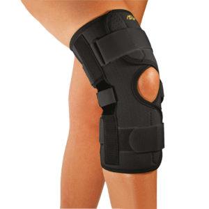 Neoprenowa orteza stawu kolanowego z regulacją kąta zgięcia – zapinana SP-A-826
